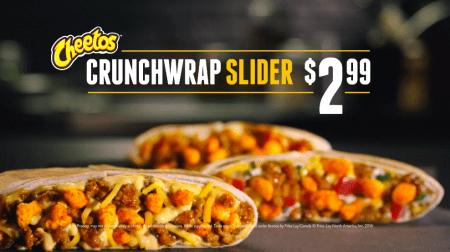 Taco Bell CrunchWrap Slider